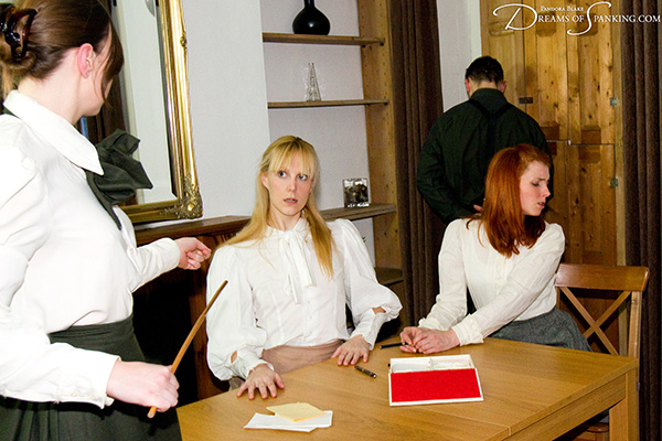Amelia Jane Rutherford caned by her Edwardian governess at Dreams of Spanking