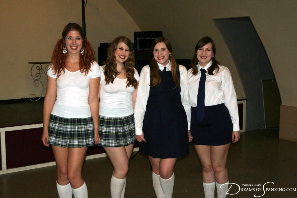 Schoolgirls Maddy Marks, Christy Cutie, Alex Reynolds and Pandora Blake at Dreams of Spanking
