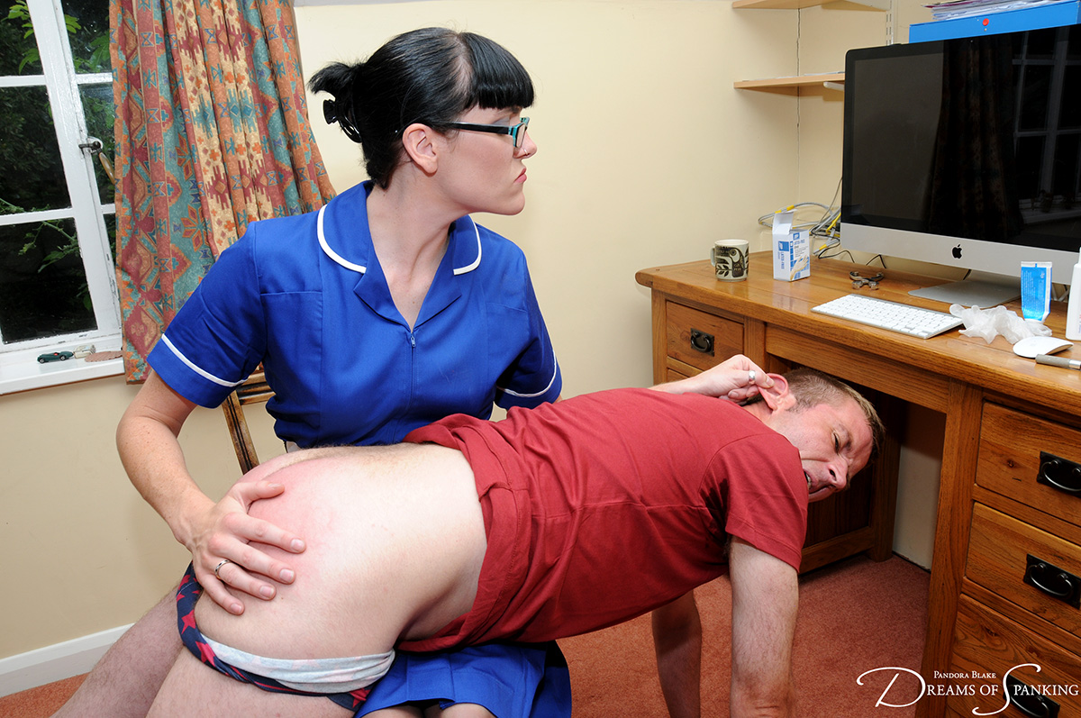 Nurse Molly Malone deals with an abusive patient at Dreams of Spanking