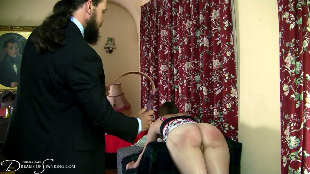 Pandora Blake visits a professional disciplinarian at Dreams of Spanking