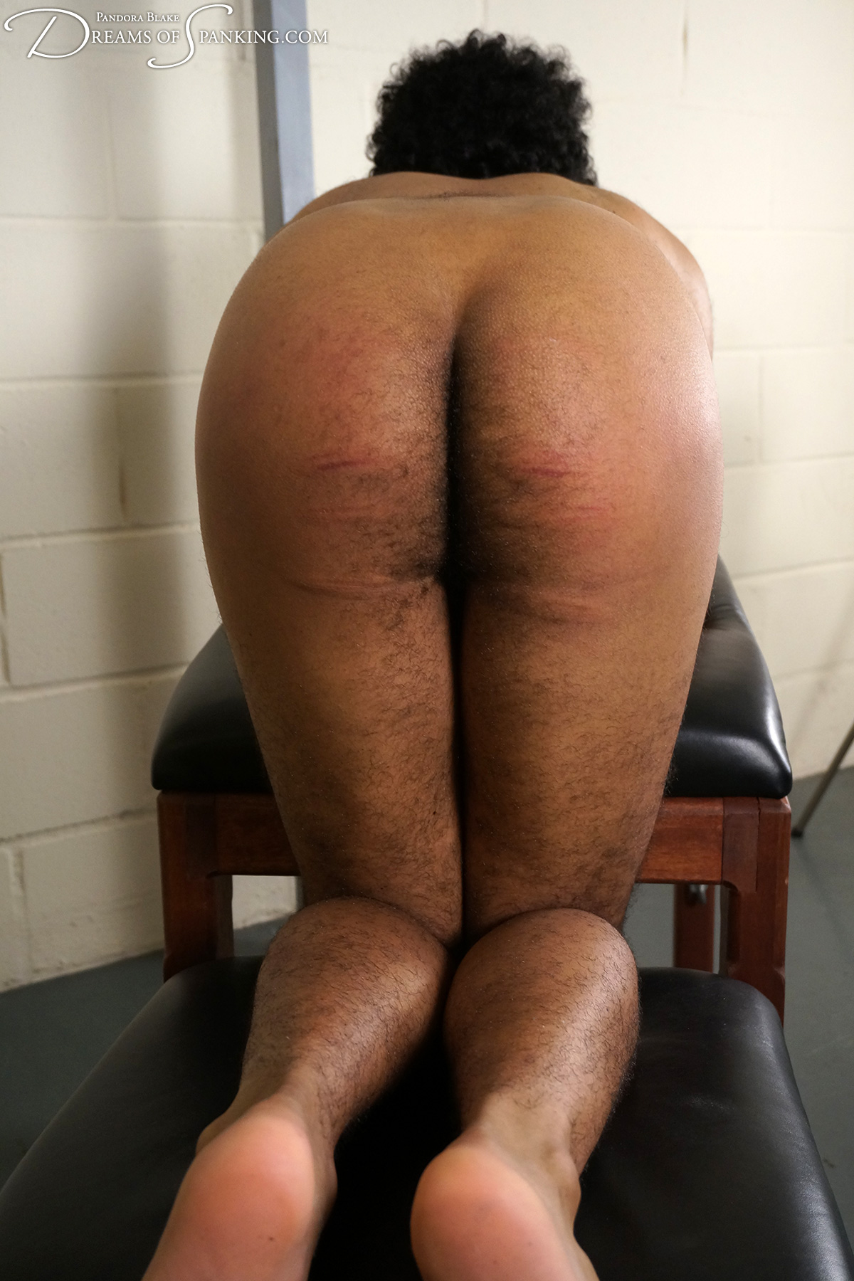 The clone's cold caning at Dreams of Spanking