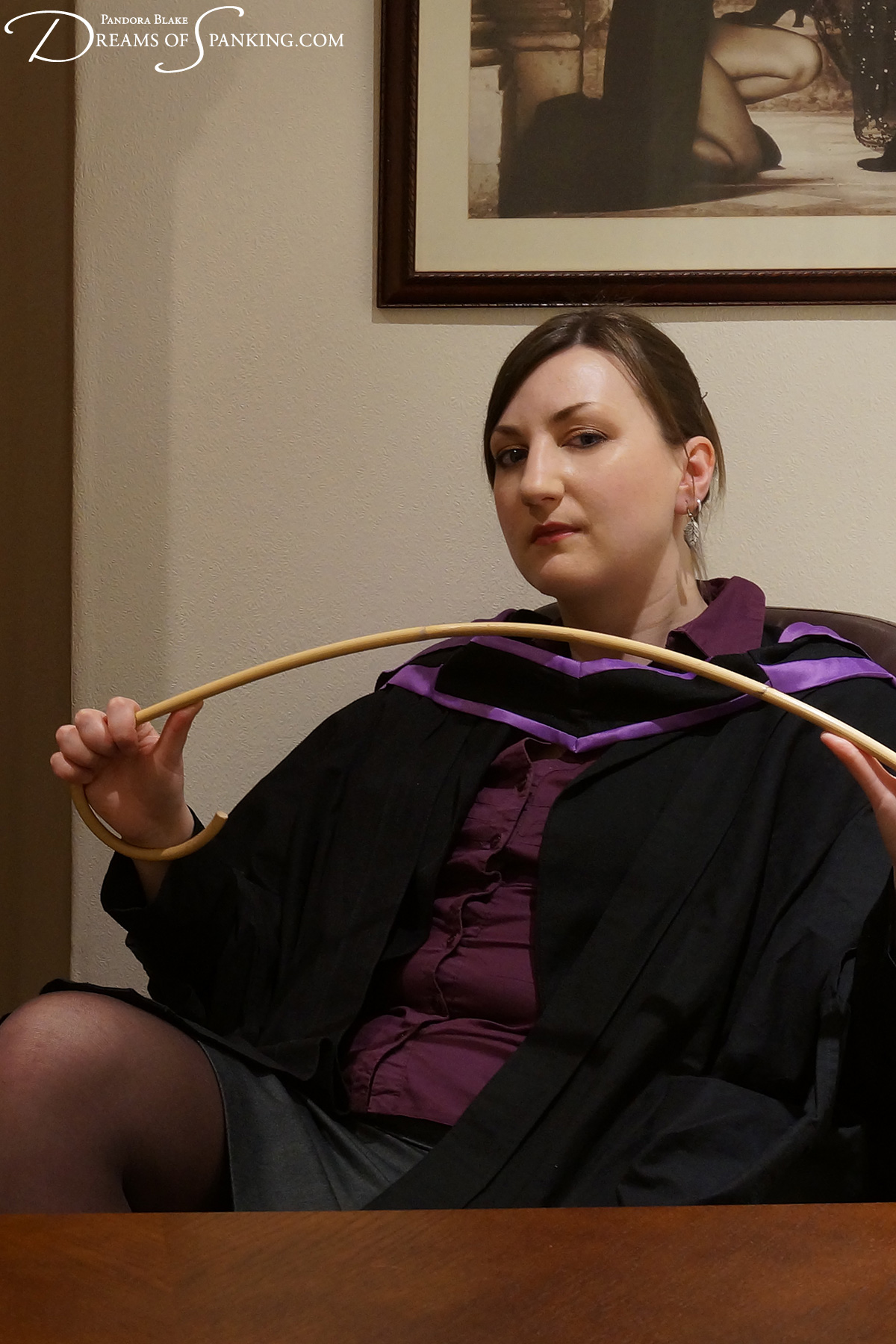 In the headmistress' study with Pandora Blake at Dreams of Spanking