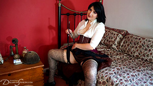 Victorian wench Pandora Blake fantasises about equestrian punishment at Dreams of Spanking