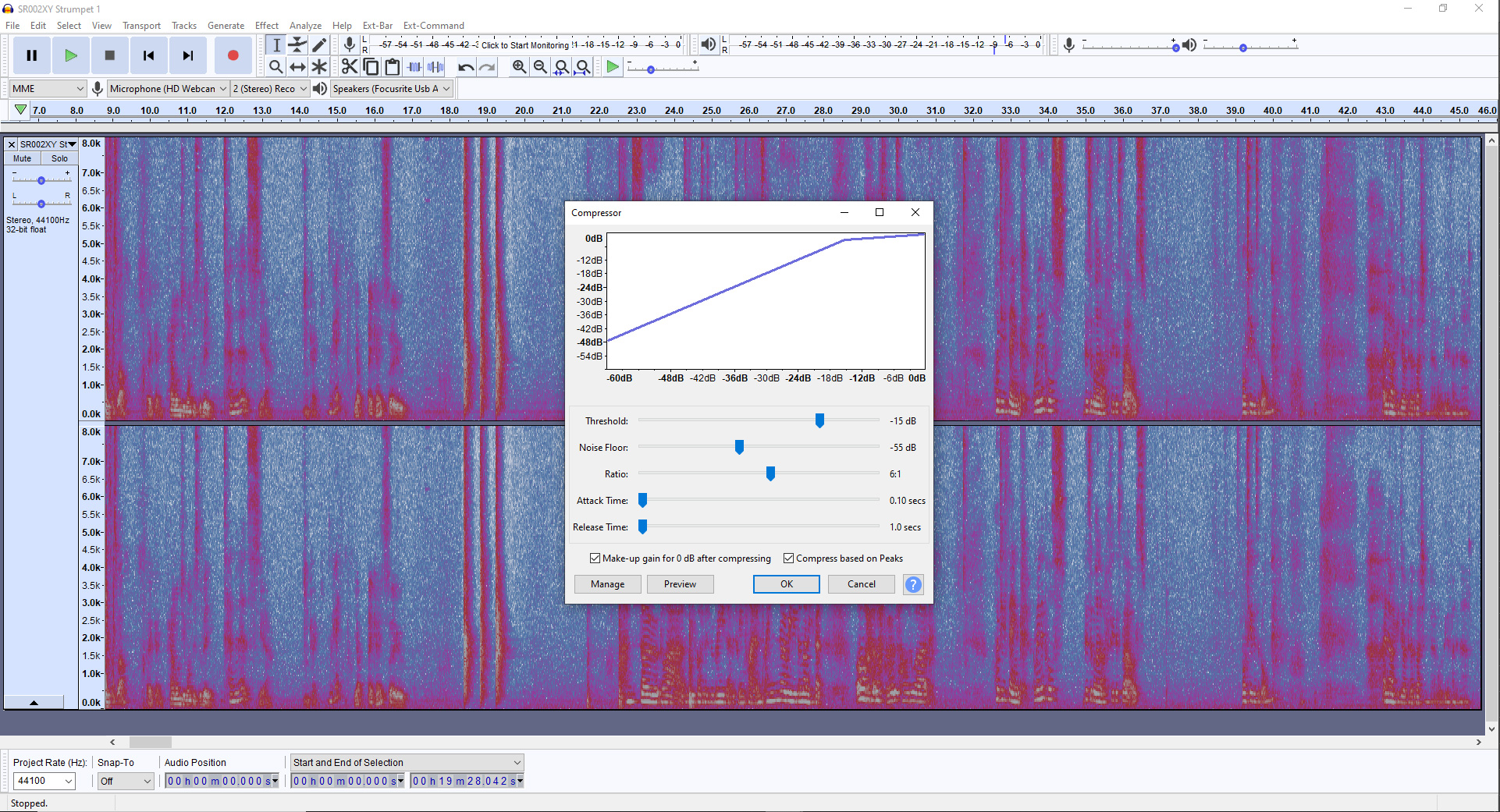audio editing software screenshot