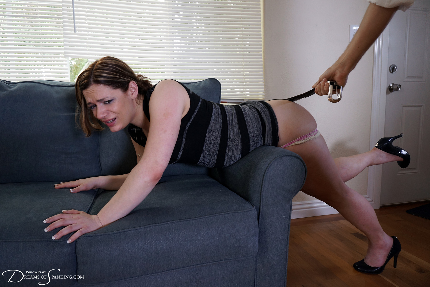 Ten Amorette spanked over the knee and with a belt