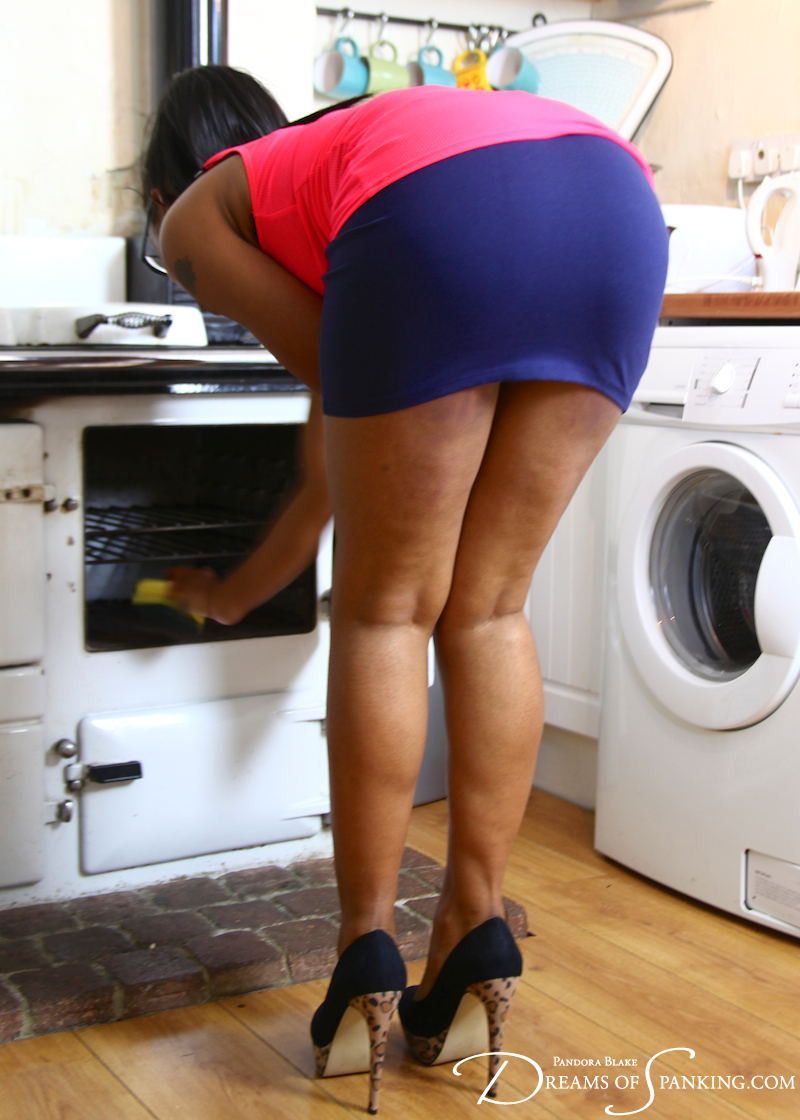 Lola Marie spanked in the kitchen at Dreams of Spanking
