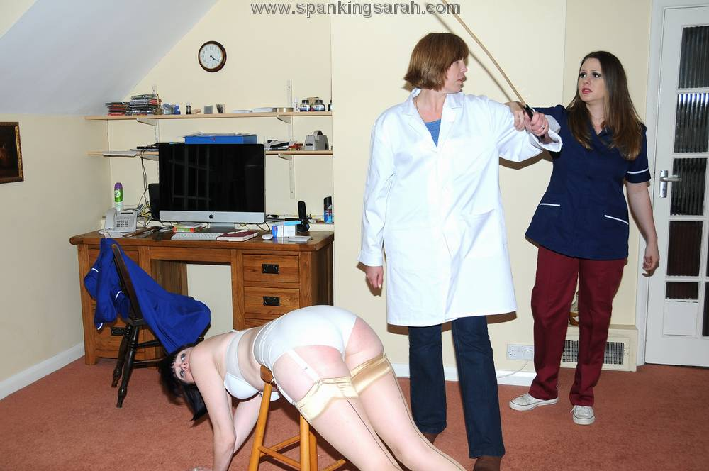 Nurse Aleesha Fox caned by Molly Malone