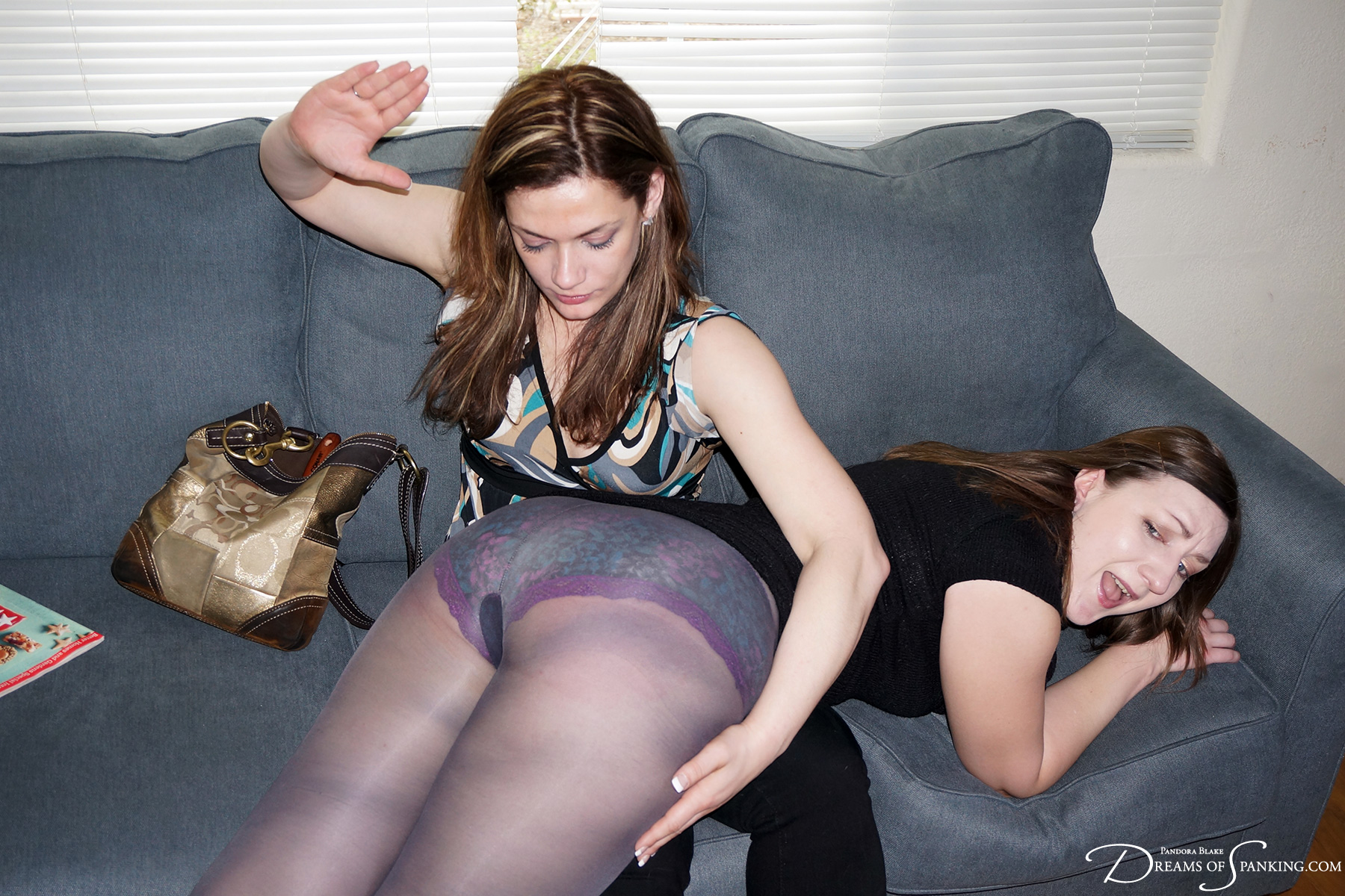 Pandora Blake spanked with a hairbrush by Ten Amorette