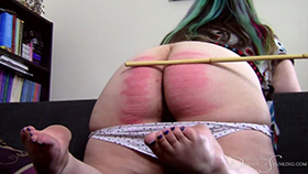 Adele's Sponsored Caning at Dreams of Spanking