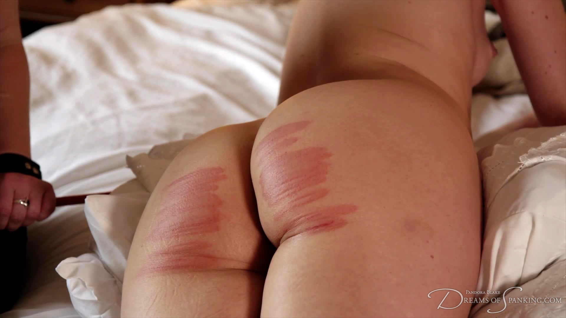 Ariels caned bottom at the end of her sponsored caning video to raise money for Backlash UK