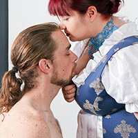 Her Ladyship's Breakfast: Adele Haze canes Jimmy Holloway at Dreams of Spanking