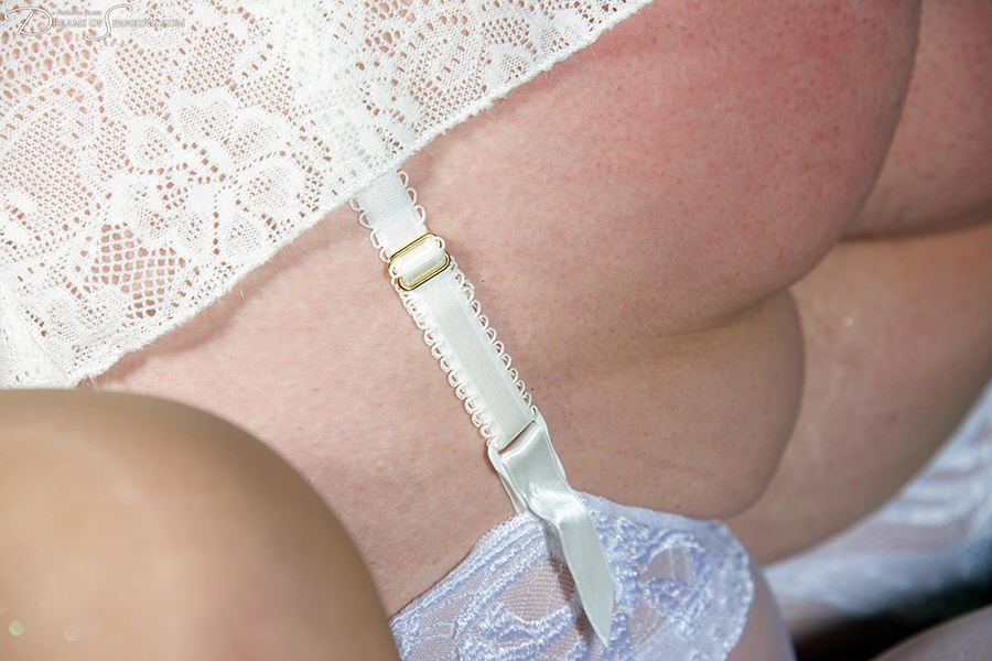 Delicate lace and vintage lingerie in Companions at Dreams of Spanking
