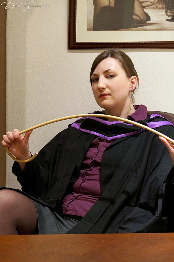 Strict headmistress Pandora Blake