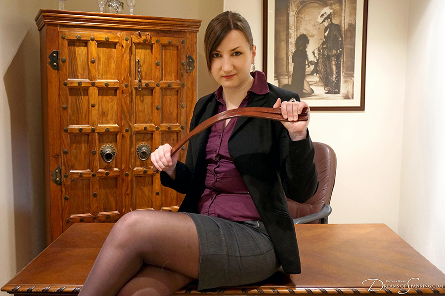 The Headmistress Study - strict school punishment at Dreams of Spanking