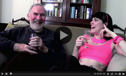 End of shoot interview with John and Molly