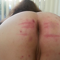 Behind the scenes photo 2 from Michelle's Sponsored Caning at Dreams of Spanking