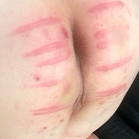Behind the scenes photo 4 from Michelle's Sponsored Caning at Dreams of Spanking