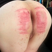 Behind the scenes photo 6 from Michelle's Sponsored Caning at Dreams of Spanking