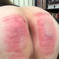 Behind the scenes photo 8 from Michelle's Sponsored Caning at Dreams of Spanking