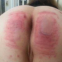 Behind the scenes photo 9 from Michelle's Sponsored Caning at Dreams of Spanking