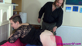 Nimue's Backlash Caning at Dreams of Spanking