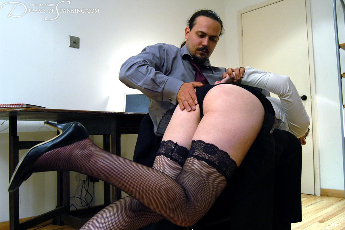 Beautiful spank bent desk tut