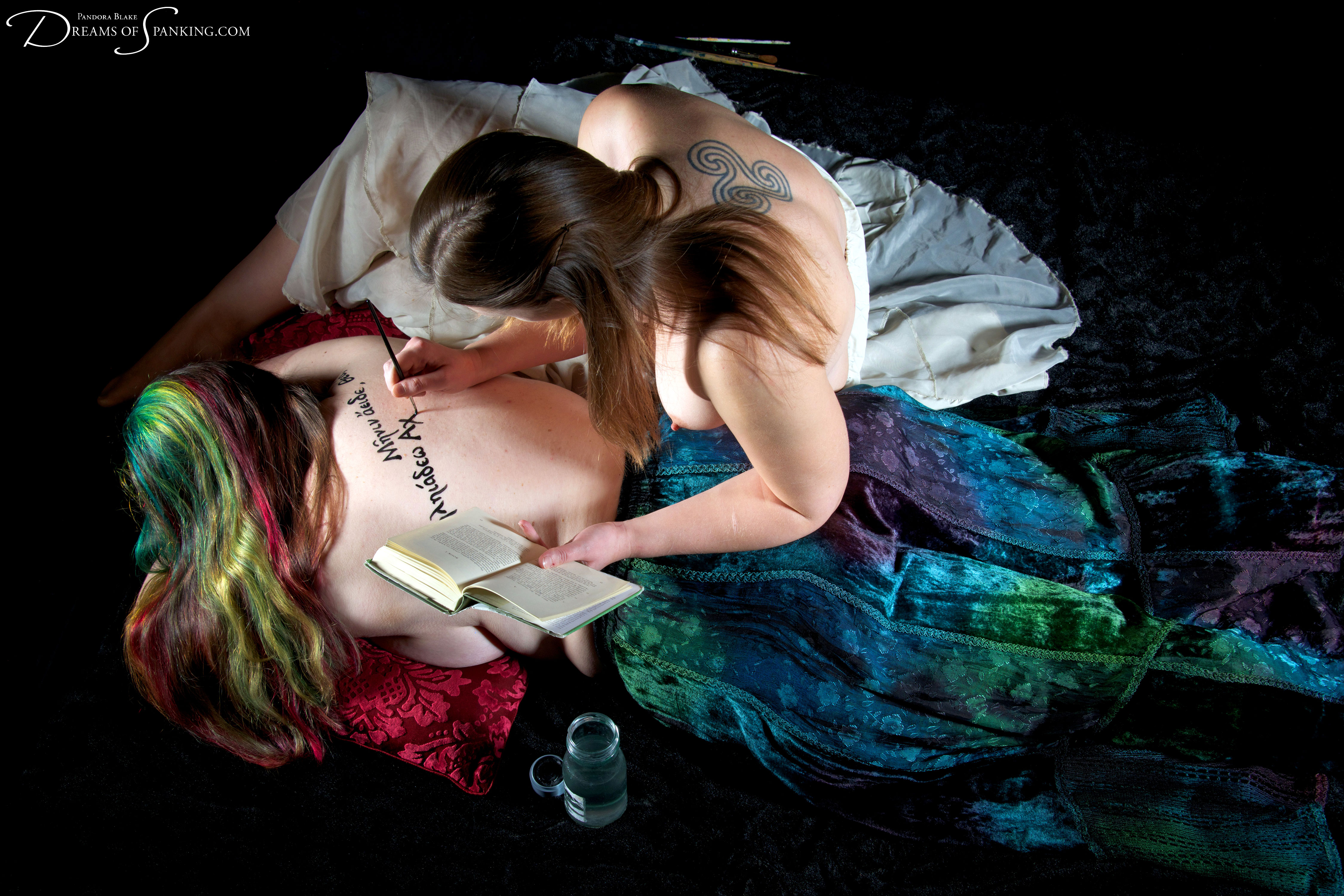 Sing, Muse - a visual poem, a spell woven in ink on skin.