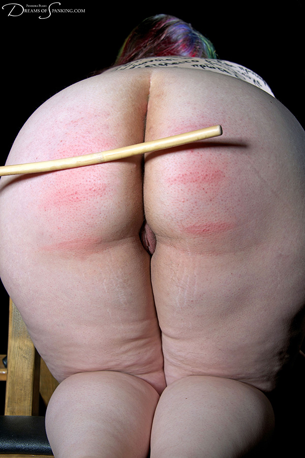 Calligraphy and caning at Dreams of Spanking with Adele Haze and Pandora Blake