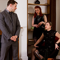 Preview thumbnail : Join the site to view The Baroness' New Houseboy and all other spanking scenes
