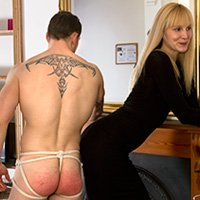 Behind the scenes photo 3 from The Baroness' New Houseboy at Dreams of Spanking
