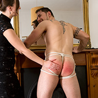 Behind the scenes photo 4 from The Baroness' New Houseboy at Dreams of Spanking