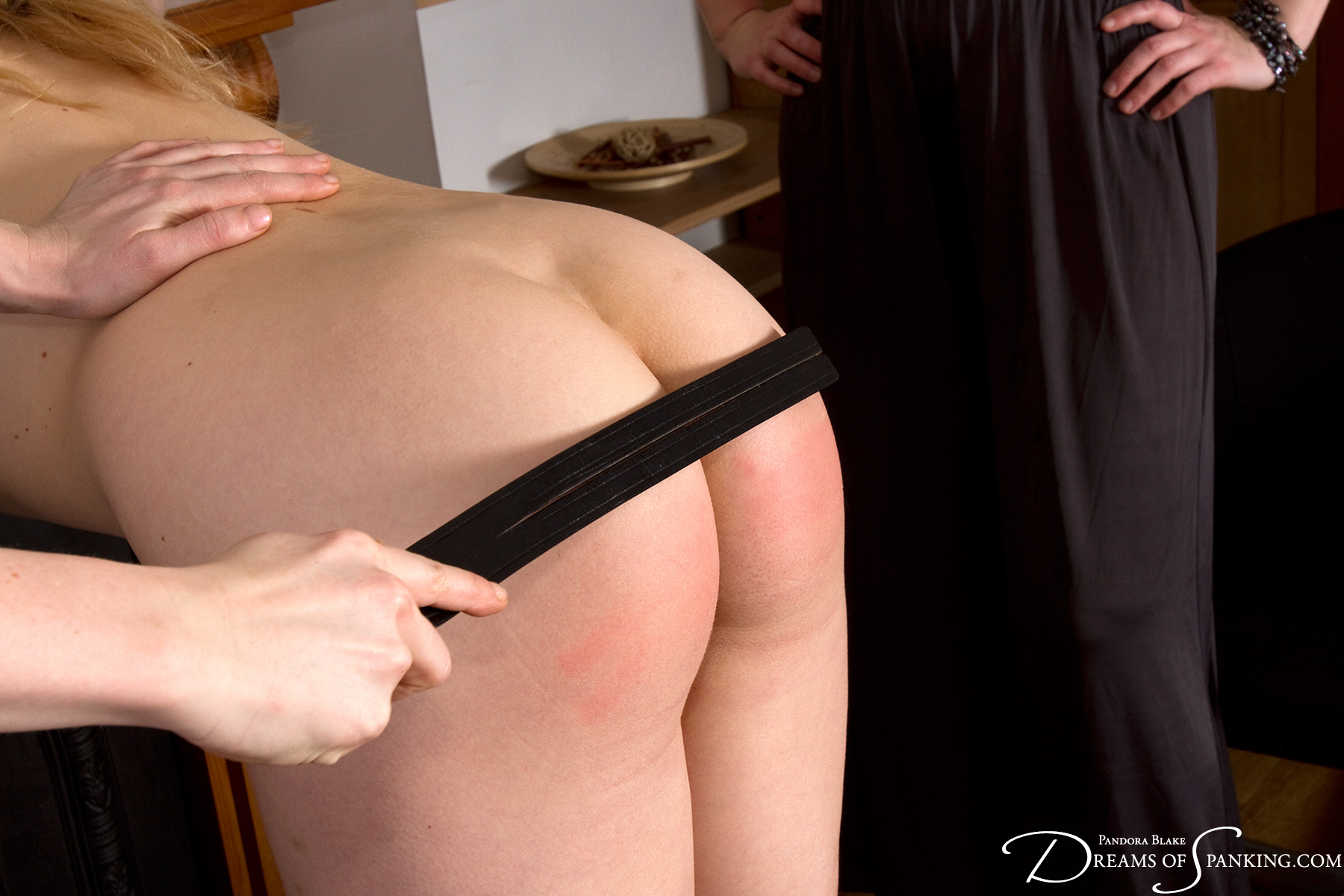 Amelia Jane Rutherford's spanked bottom at Dreams of Spanking