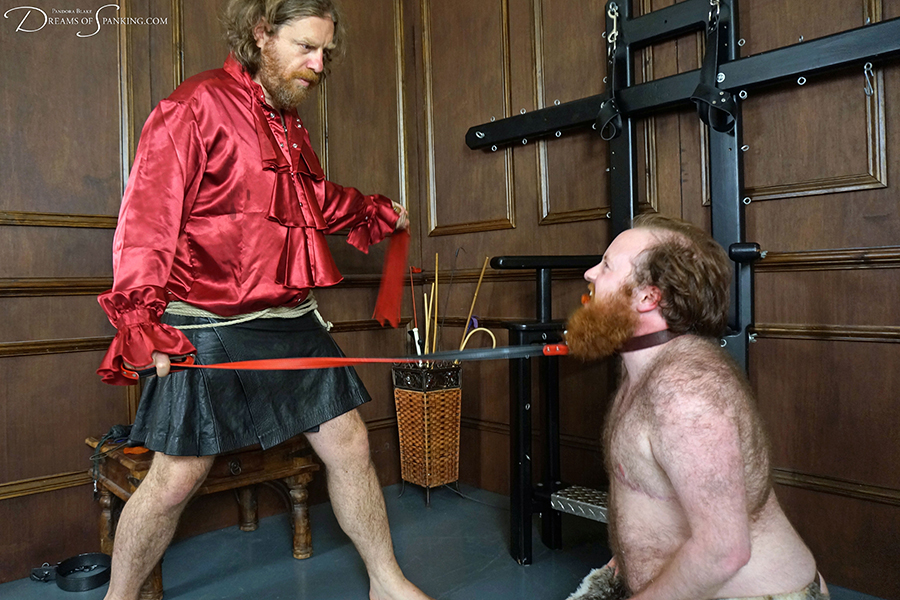 Wild beast Ron Beastly whipped and tamed at Dreams of Spanking