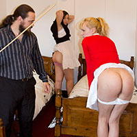 Join the site to view Through the Bedroom Door and all other spanking scenes