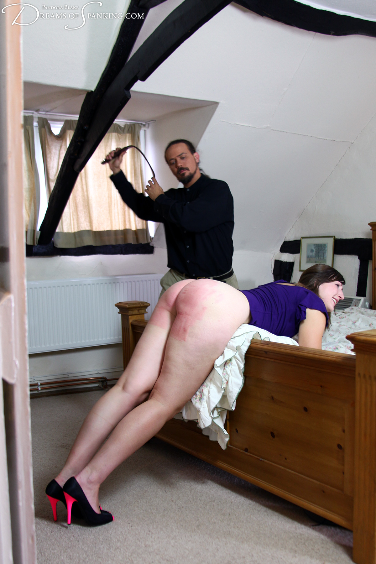 Leather belt spanking
