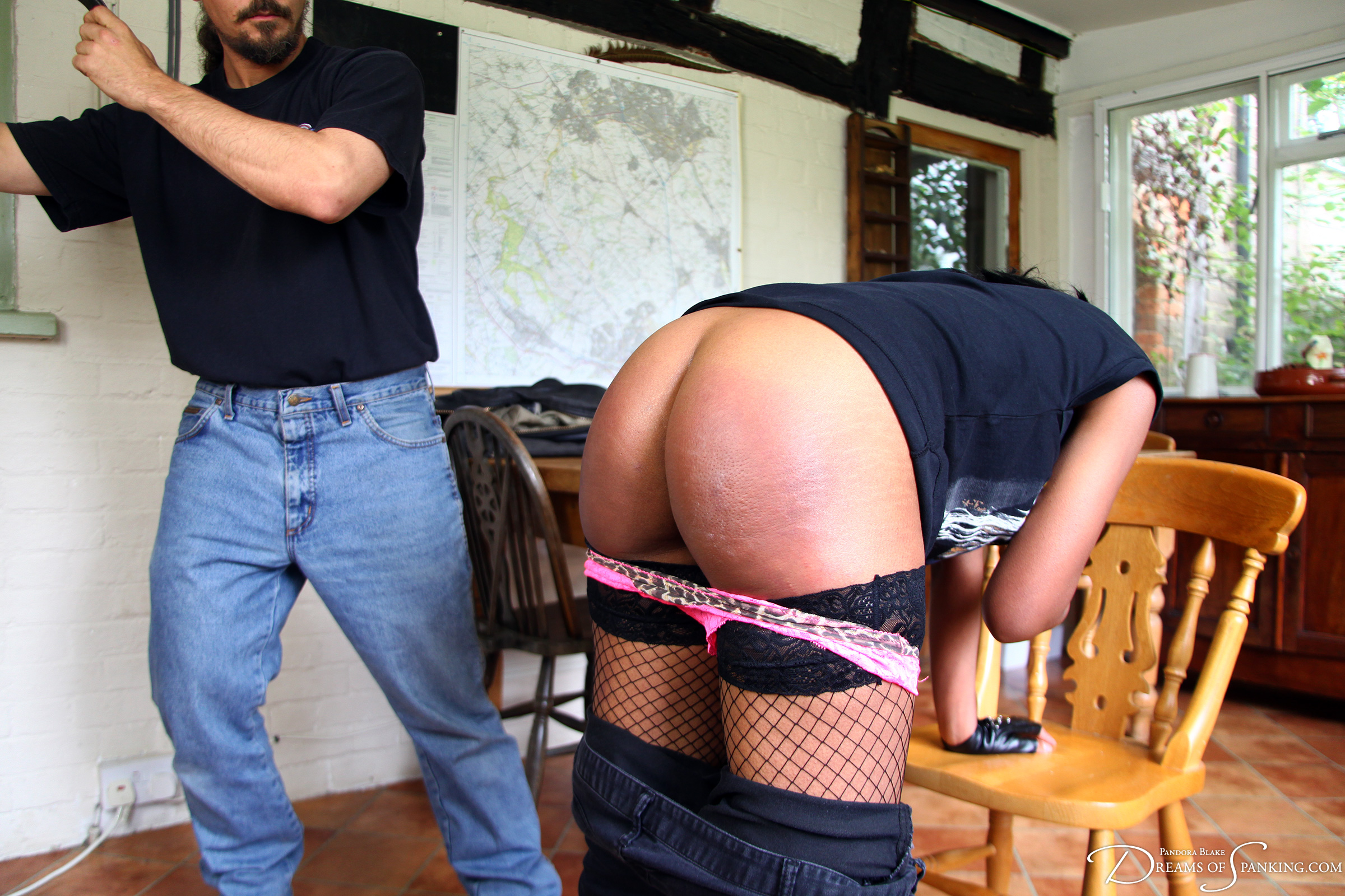 Girls spanked with belt