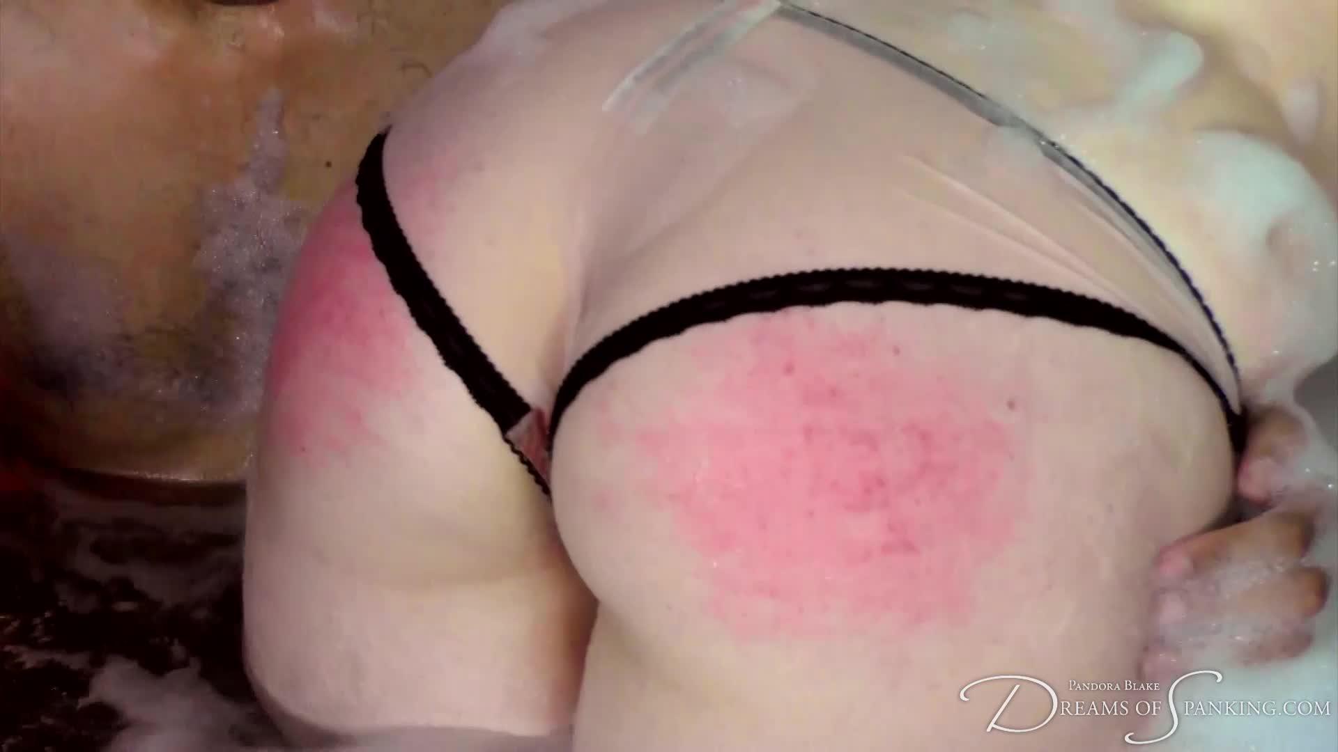 Bare bottom spankings with a real life switch couple at Dreams of Spanking