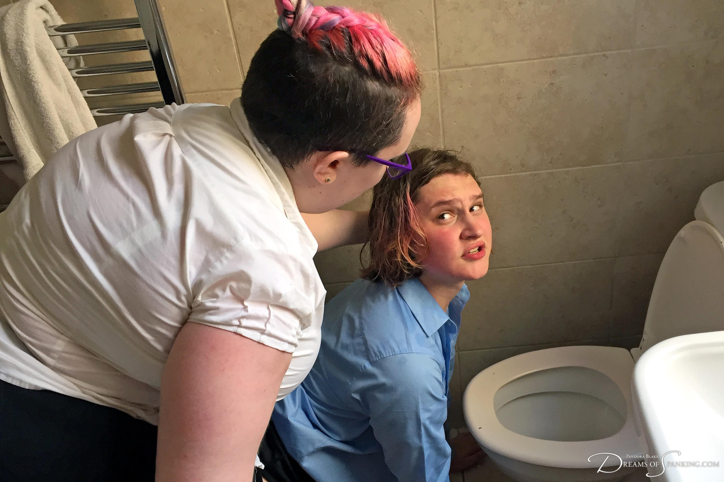Little girl Tai Crimson is bullied at home by Nimue Allen at Dreams of Spanking