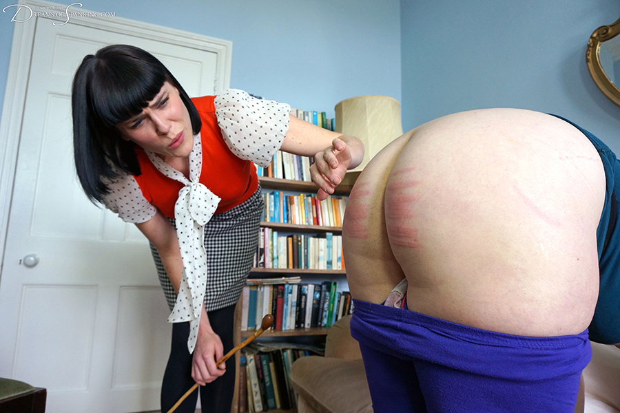 Punishment caning in the 1980s with Molly Malone and Nimue Allen - Dreams of Spanking