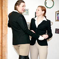 Behind the scenes photo 4 from Caned in Jodhpurs at Dreams of Spanking