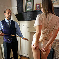 Preview thumbnail : Join the site to view Caned in the Parlour and all other spanking scenes
