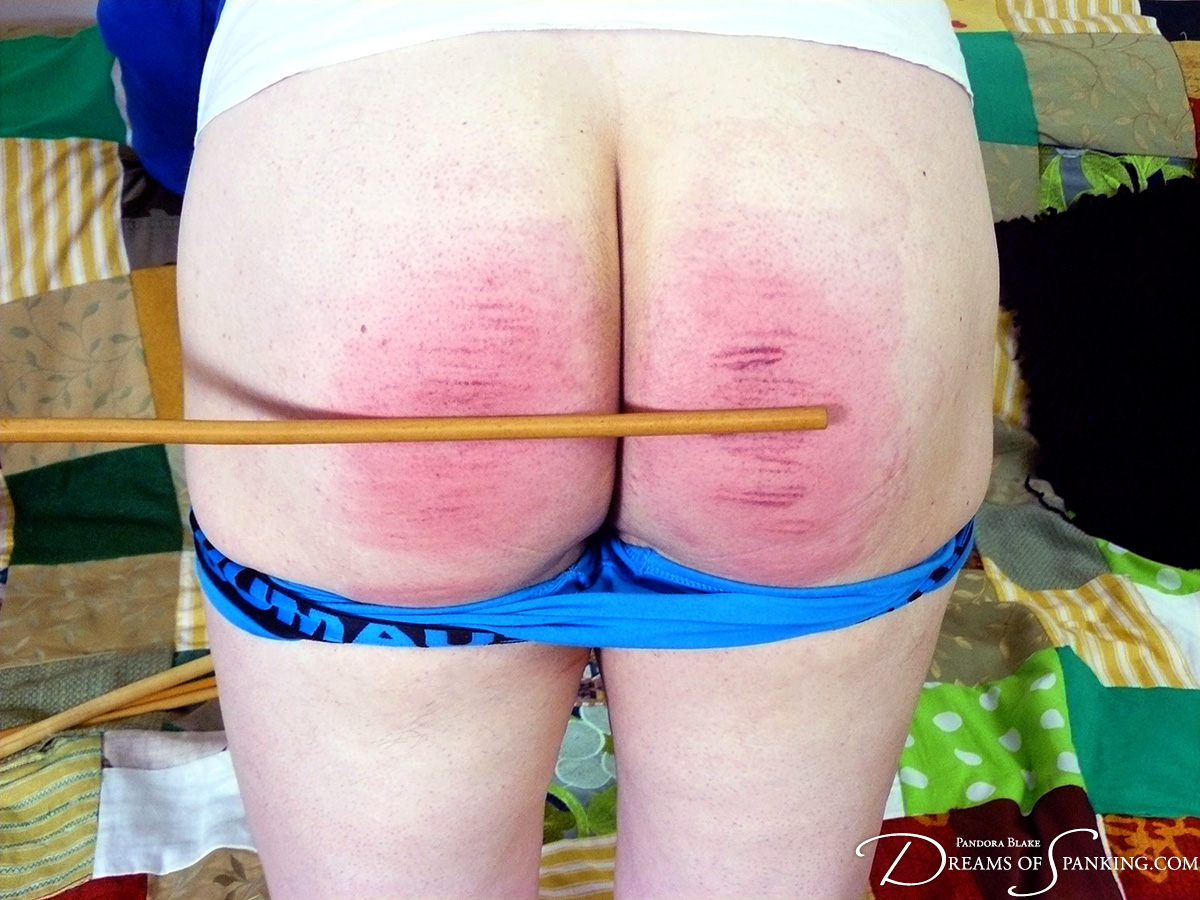 Double caning by Pandora and Nimue, as modelled by the peachy Michael Darling