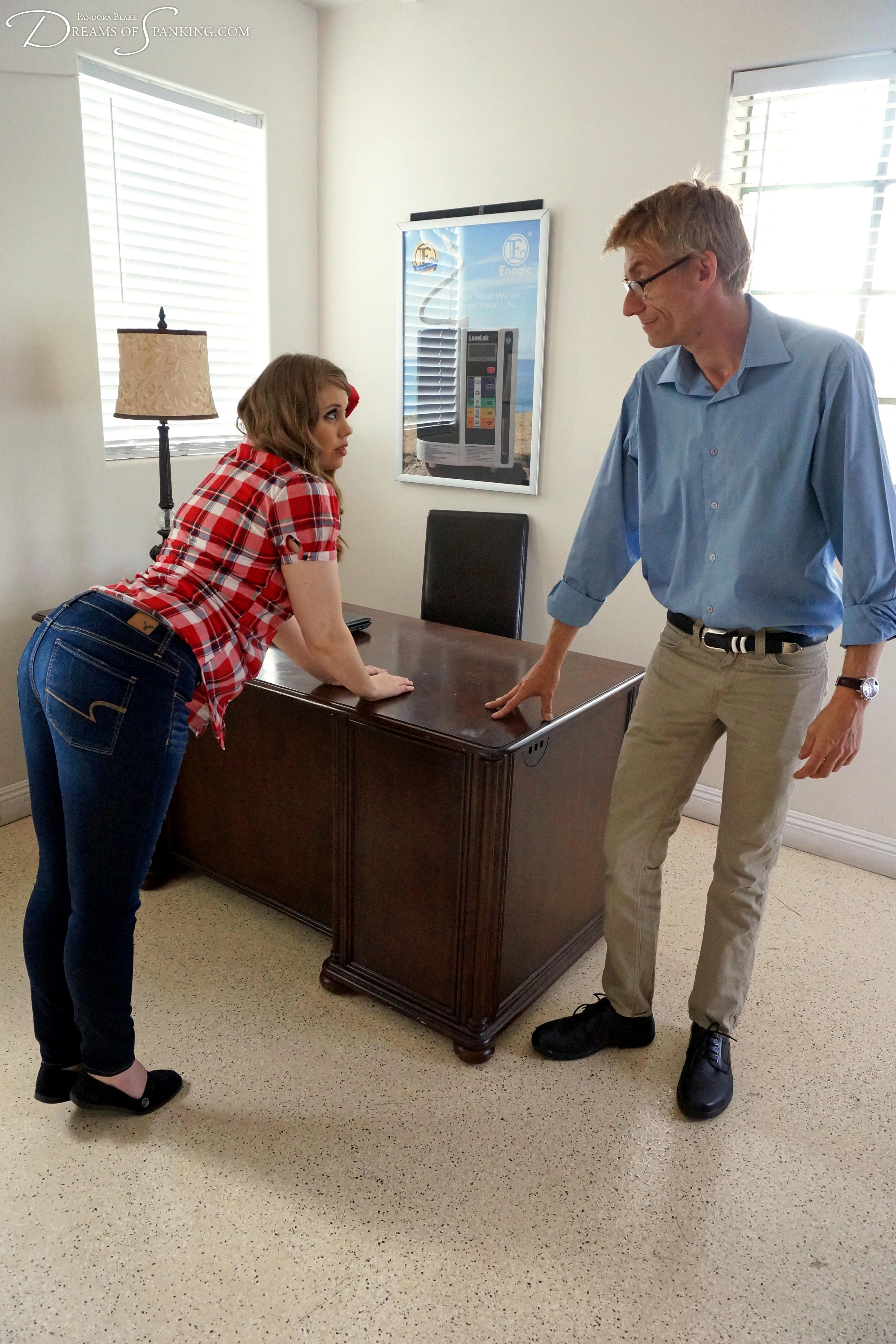 Naughty niece Christy Cutie spanked by uncle Paul Kennedy at Dreams of Spanking