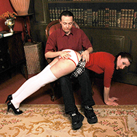 Preview thumbnail : Join the site to view College girl and all other spanking scenes