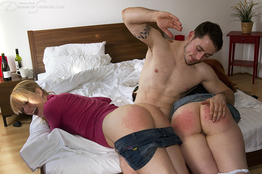 Tight shorts panties uncle punish spank