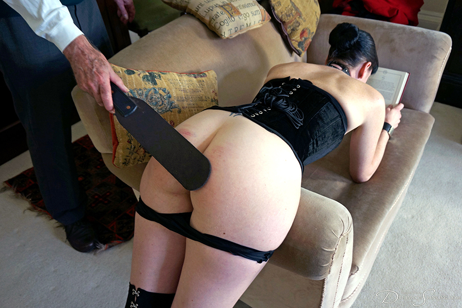 Punishment and curious pleasures for Molly Malone at Dreams of Spanking