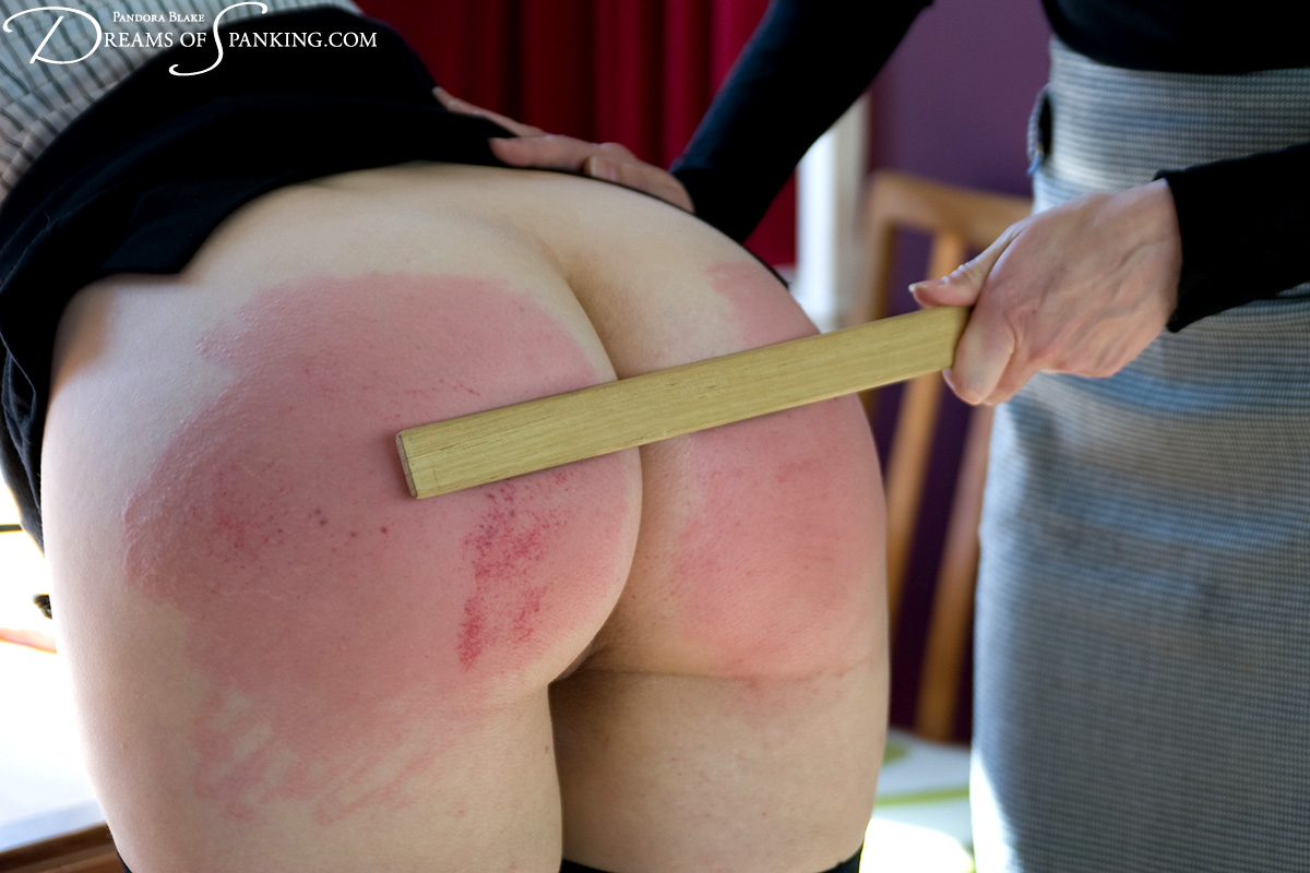 Dana Kane spanks naughty interns Michael Darling and Pandora Blake at Dreams of Spanking