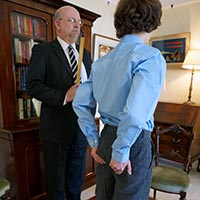 Misbehaving male - Sent to the Dean