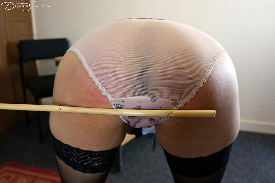 1950s secretary caned by her strict boss at Dreams of Spanking
