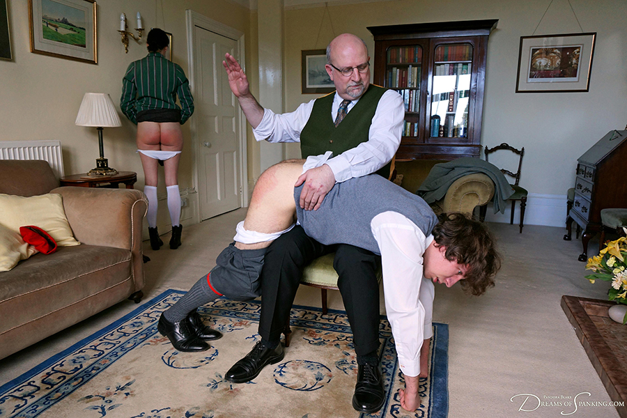 Strict punishment for two poor evacuees - historical spanking from Dreams of Spanking